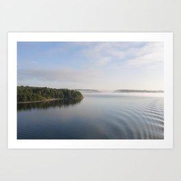 View from Boat - Morning  Art Print