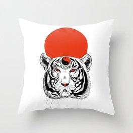YIN YANG TIGER Throw Pillow