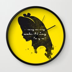 Unbirthday – Alice Silhouette Quote Wall Clock