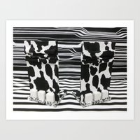 Black and White Elephant Feet Art Print