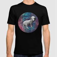 The Space Sheep 2.0 Black Mens Fitted Tee SMALL