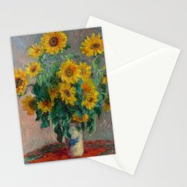 Bouquet of Sunflowers by Claude Monet, 1881 Stationery Cards