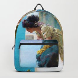 Lawrence Alma-Tadema - A Coign Of Vantage - Digital Remastered Edition Backpack