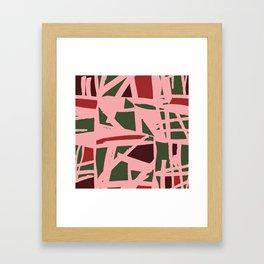 Christmas Geometry Framed Art Print