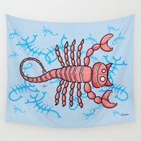 scorpio Wall Tapestries featuring Scorpio by Giuseppe Lentini