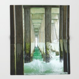Under the Pier Throw Blanket