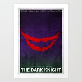 The Dark Knight (Alternative Poster) Art Print