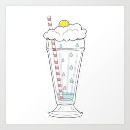 Stormy Milkshake Art Print