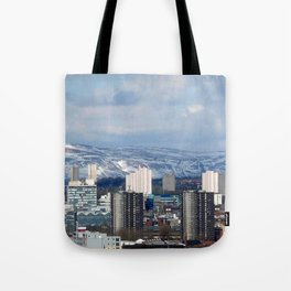 Glasgow and The  Campsie Fells Tote Bag