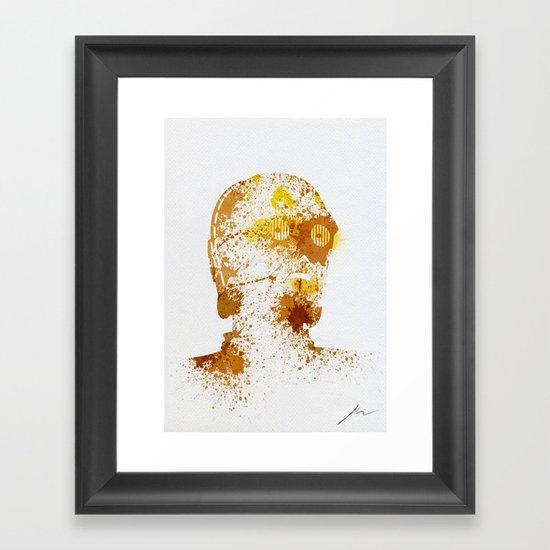Protocol Droid Framed Art Print