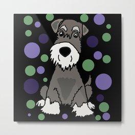 Funny Miniature Schnauzer Dog Abstract Metal Print