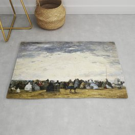 Vacationers On The Beach At Trouville - Digital Remastered Edition Rug