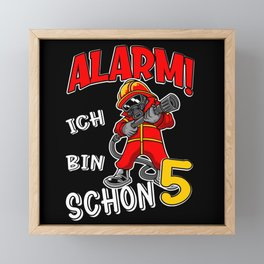 5. Kindergeburtstag Feuerwehr Kinder Framed Mini Art Print