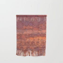 Percolated Sunset in Warm Tones Wall Hanging