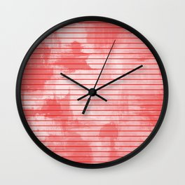 Seeing Red - Textured, geometric red Wall Clock