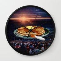 breakfast Wall Clocks featuring Breakfast by Lerson