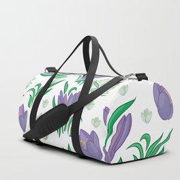 Crocus background Duffle Bag