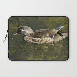 Female Wood Duck at Green Valley Inn Laptop Sleeve