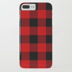 Red and Black Buffalo Plaid iPhone 7 Plus Slim Case