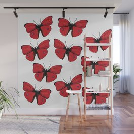 Red butterfly Spring Art Wall Mural