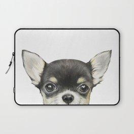 Chihuahua mix color Dog illustration original painting print Laptop Sleeve