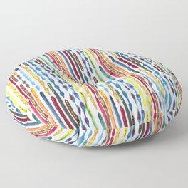 Carnival line pattern Floor Pillow