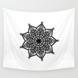 Indie Mandala: hand-drawn Wall Tapestry