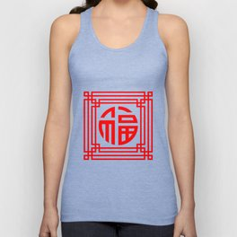 PATTERN ART07-1-Red Unisex Tank Top