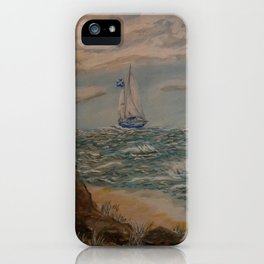 Sailing from a Safe Harbor iPhone Case