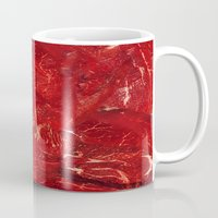 meat Mugs featuring Meat. by Nathan