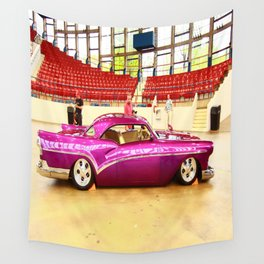 Sleek and Classy Vintage Car Wall Tapestry
