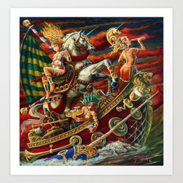 Party Boat to Atlantis Art Print