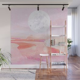 pink moonrise Wall Mural