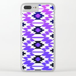 Ultraviolet geometry Clear iPhone Case