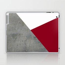 Concrete Burgundy Red White Laptop & iPad Skin