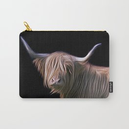 Hairy Scottish Highland cow Carry-All Pouch