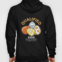 Qualified Egg Hunter Funny Easter Egg print Hoody