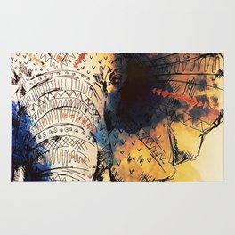 Mandala Elephant Paint Rug