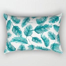 Tropical Palm Leaf Pattern Rectangular Pillow