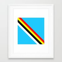 rave Framed Art Prints featuring Rave by Naked N Pieces
