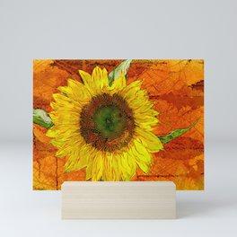Sunflower Leaf Impression Mini Art Print