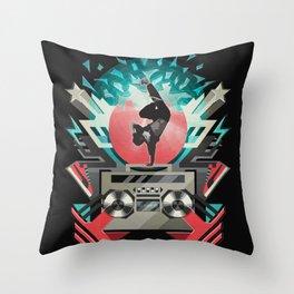 FREEZE (black) Throw Pillow