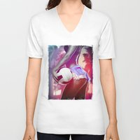 volleyball V-neck T-shirts featuring Beach volleyball girl sexy by Swagnation Dopetribe
