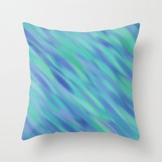 Illusion in Blue and Green Throw Pillow
