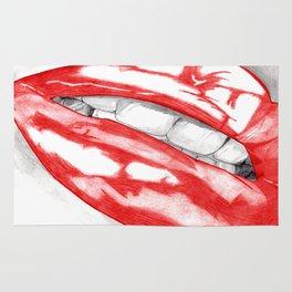 Hot Lips Scarlet Rug