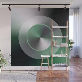 Serene Simple Hub Cap in Green Wall Mural