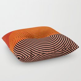 lines and shapes 1 abstract geometric Floor Pillow