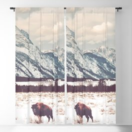 Bison & Tetons Blackout Curtain