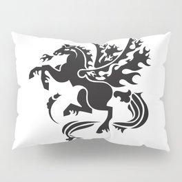 Fiery Pegasus - black Pillow Sham