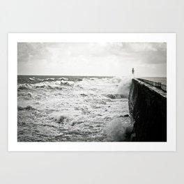 Landscape English Pier Art Print